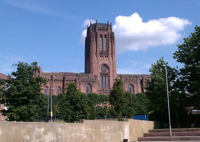 Liverpool Anglican Cathedral and St James Gardens