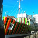 The Edmund Gardner re-imagined as a Dazzle Ship