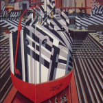 Edward Wadsworth, Dazzle-ships in Drydock at Liverpool, 1919.  Tate collection